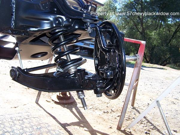 57 Chevy Black Widow Front Suspension